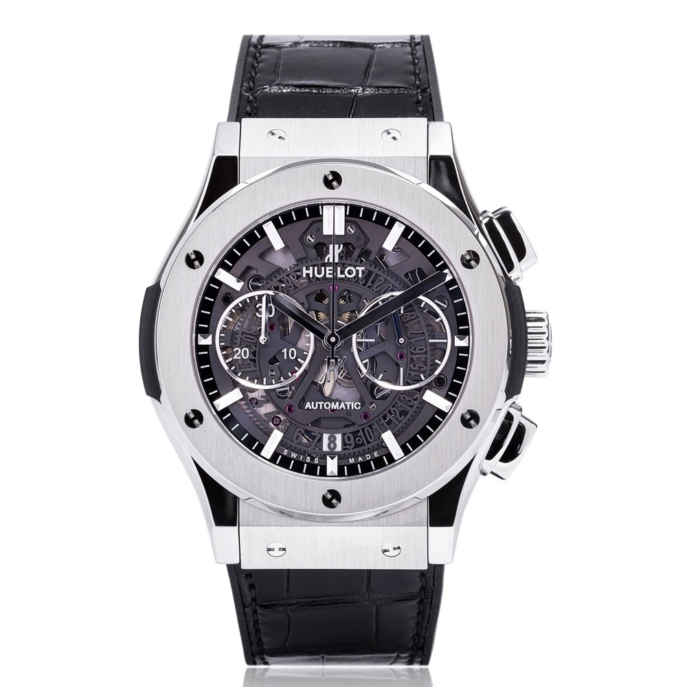 classic hublot aero watches p mens titanium fusion watch chronograph
