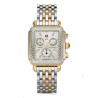 Urban Mini Diamond Two Tone, Diamond Dial Two Tone Bracelet Watch