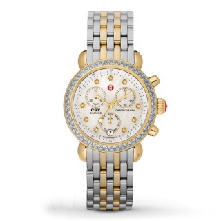 Signature CSX-36 Two Tone Diamond, Diamond Dial Watch