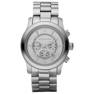 Runway Oversized Silver Tone Watch