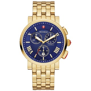 Sport Sail Large Gold, Navy Dial
