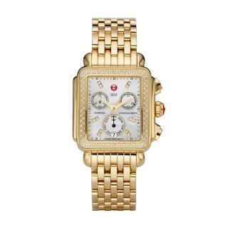 Signature Deco Gold Diamond, Diamond Dial Watch